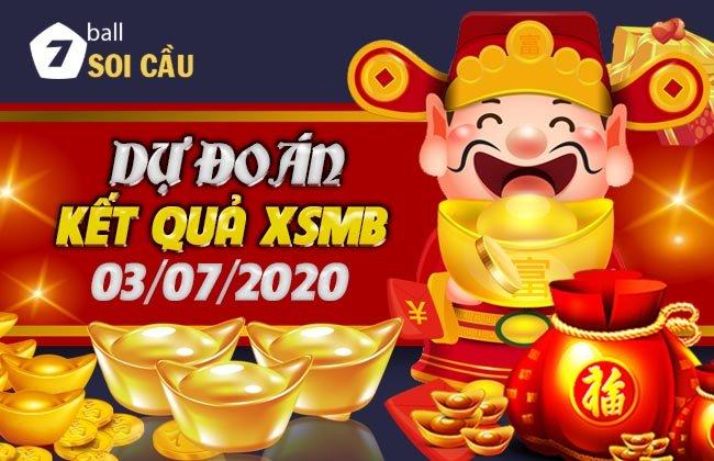 Soi cầu XSMB ngày 3 tháng 7 năm 2020