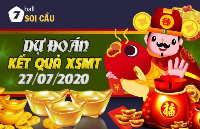 Soi cầu XSMT ngày 27 tháng 7 năm 2020
